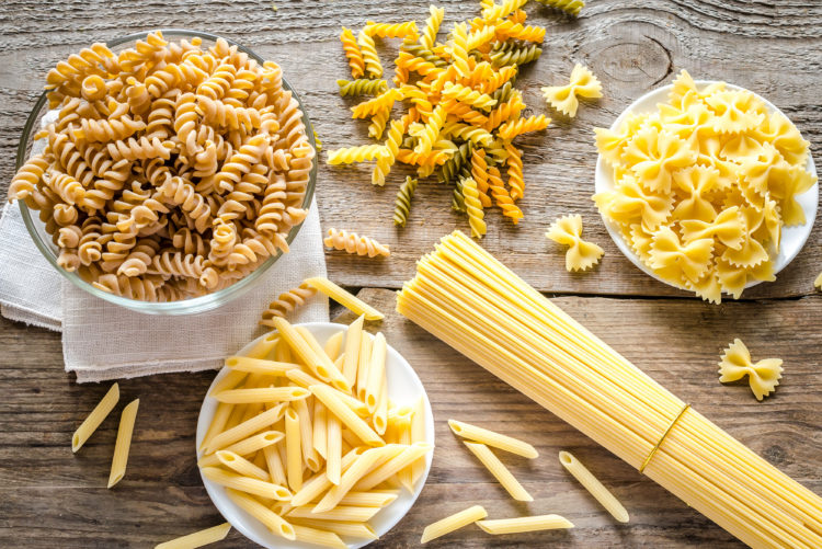 Image of various kinds of pastas