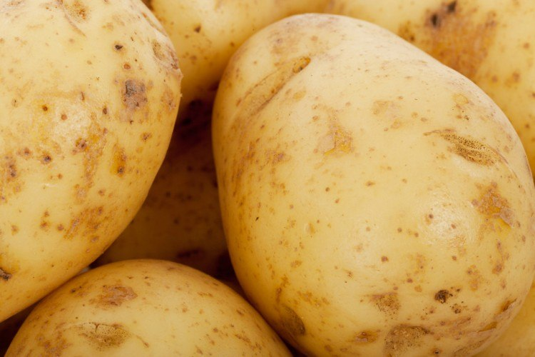 Image of raw potatoes