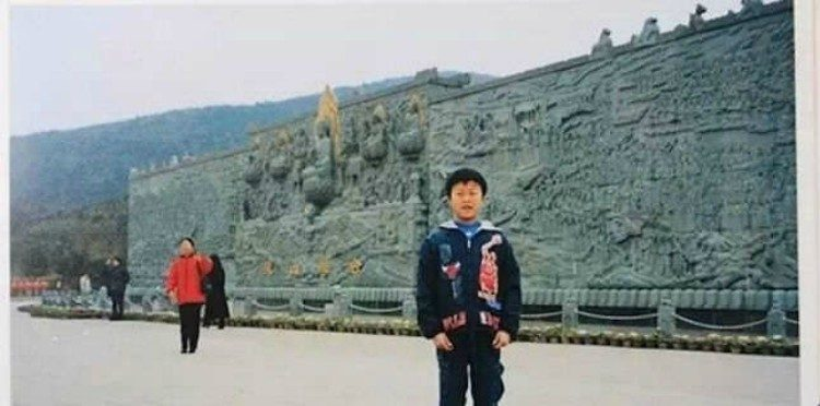 Strange coincidence in childhood photo.