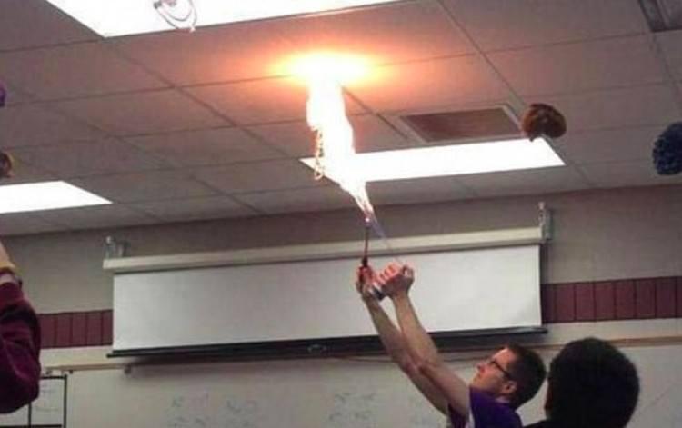 cool teacher fire