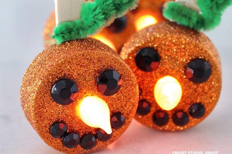 DIY glitterpumpkins
