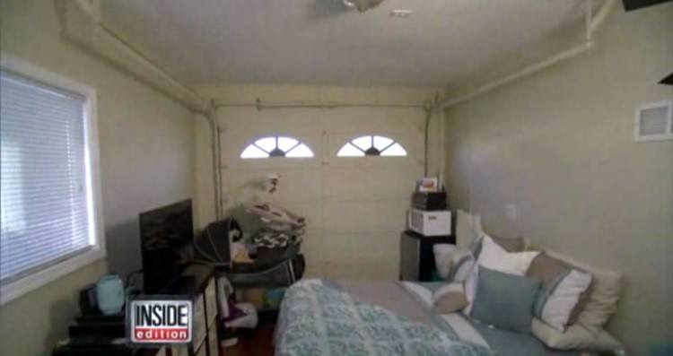 The inside of Nicole's one-car garage home.