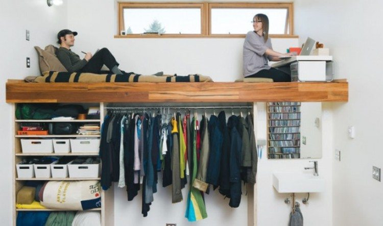 Add a large second shelf as a loft.