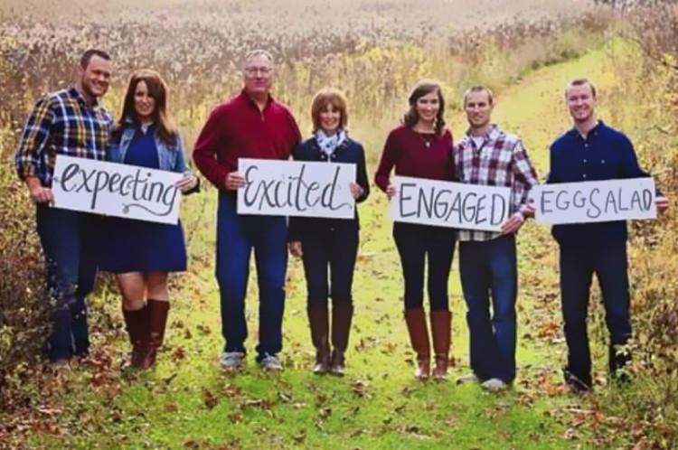 Funny family photo.