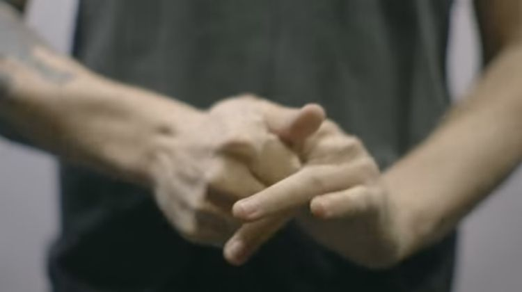 Man cracking your knuckles.