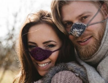 Image of models wearing nose warmers.