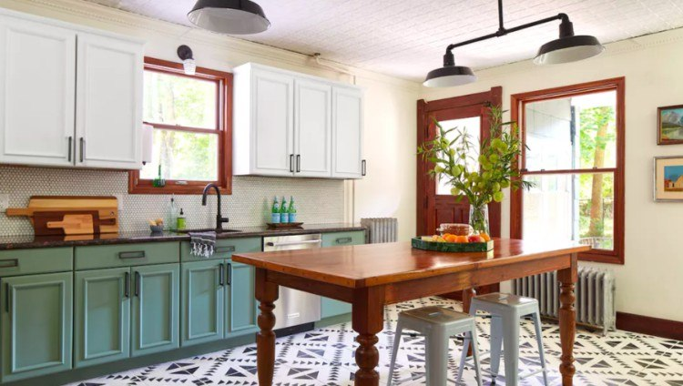 view of Chalk Paint kitchen remodel