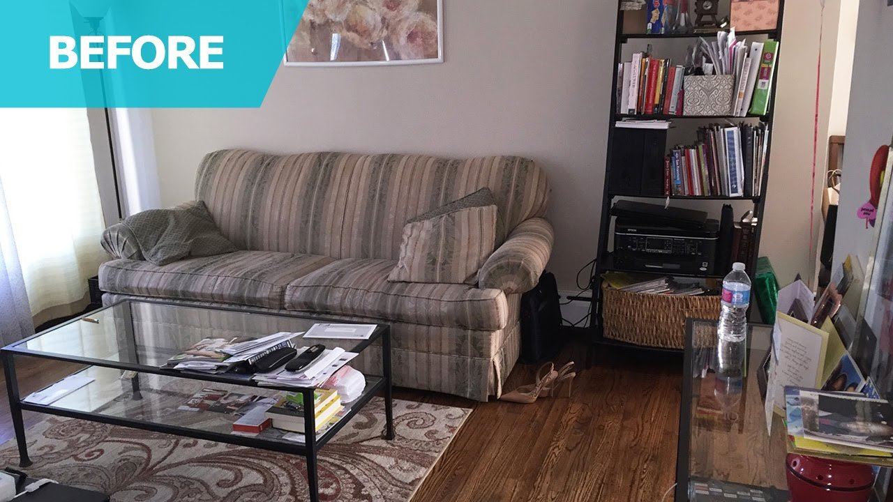 Nice Small Detroit Living Room Before IKEA Products Makeover