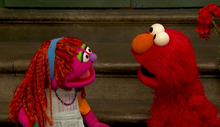 Image of Lily on Sesame Street.