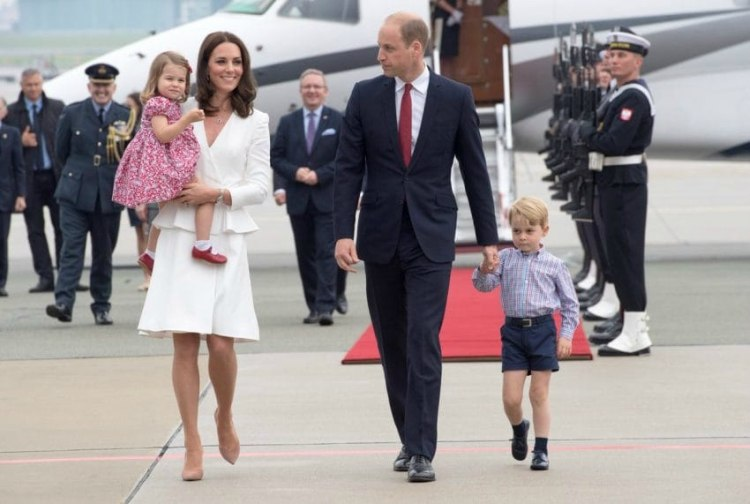 Younger royal family: Prince William, Duchess Kate, George and Charlotte