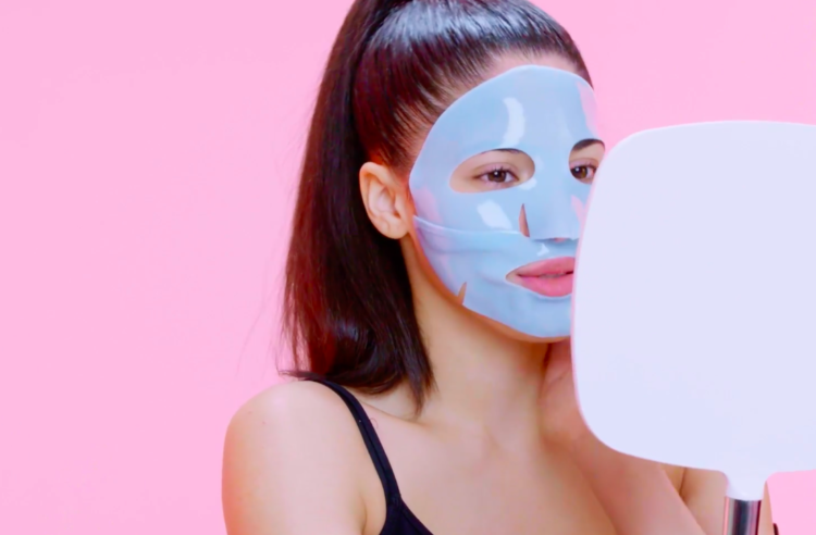 Image of woman wearing a face mask