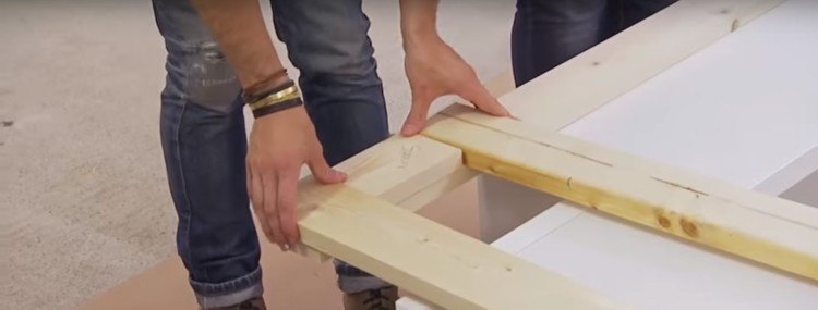 2 x 4 spacers for the plywood bed platform