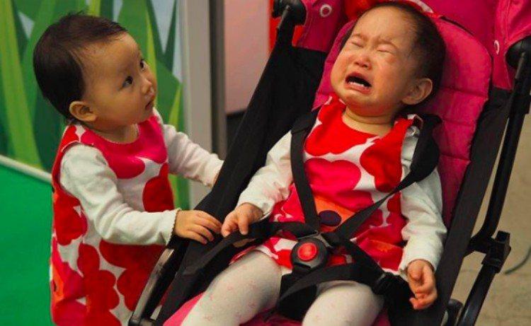 upset kids matching outfits