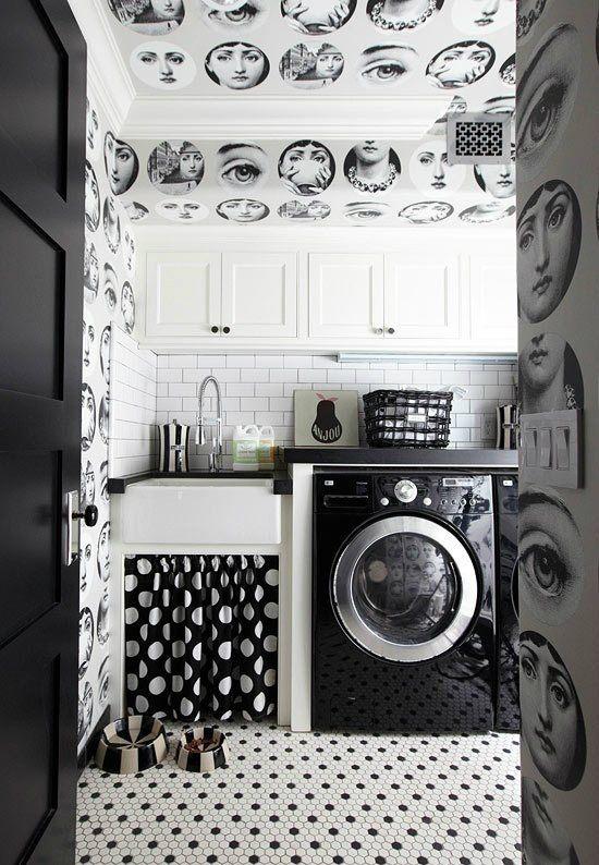 Graphic Laundry Room