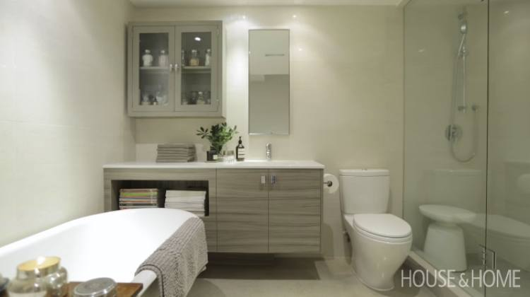 Second bathroom in small house after home renovation