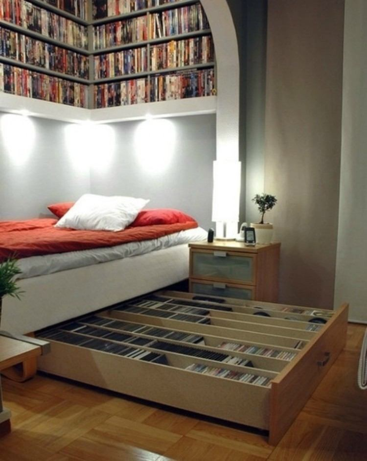Media Storage Bed
