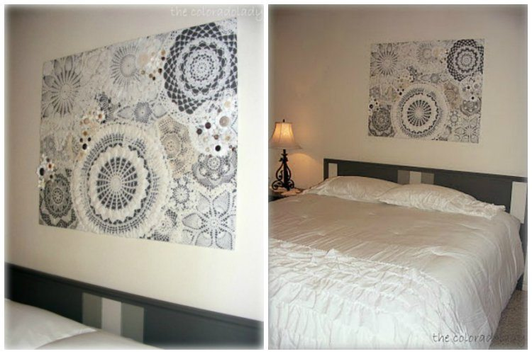 Doily Wall Art On Wall Final