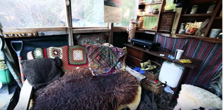 view of the tent house's living room