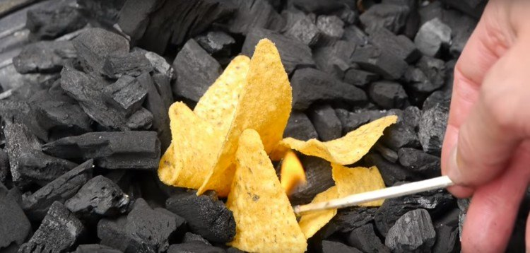 Use Doritos as kindling when in a pinch