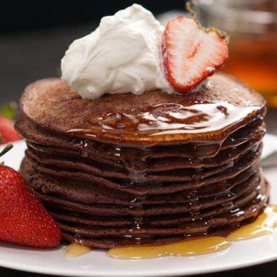 3 Ingredient Chocolate Banana Pancakes No Milk No Sugar No Flour