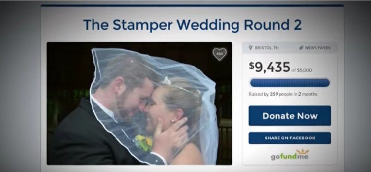 Go Fund Me page for Stamper wedding