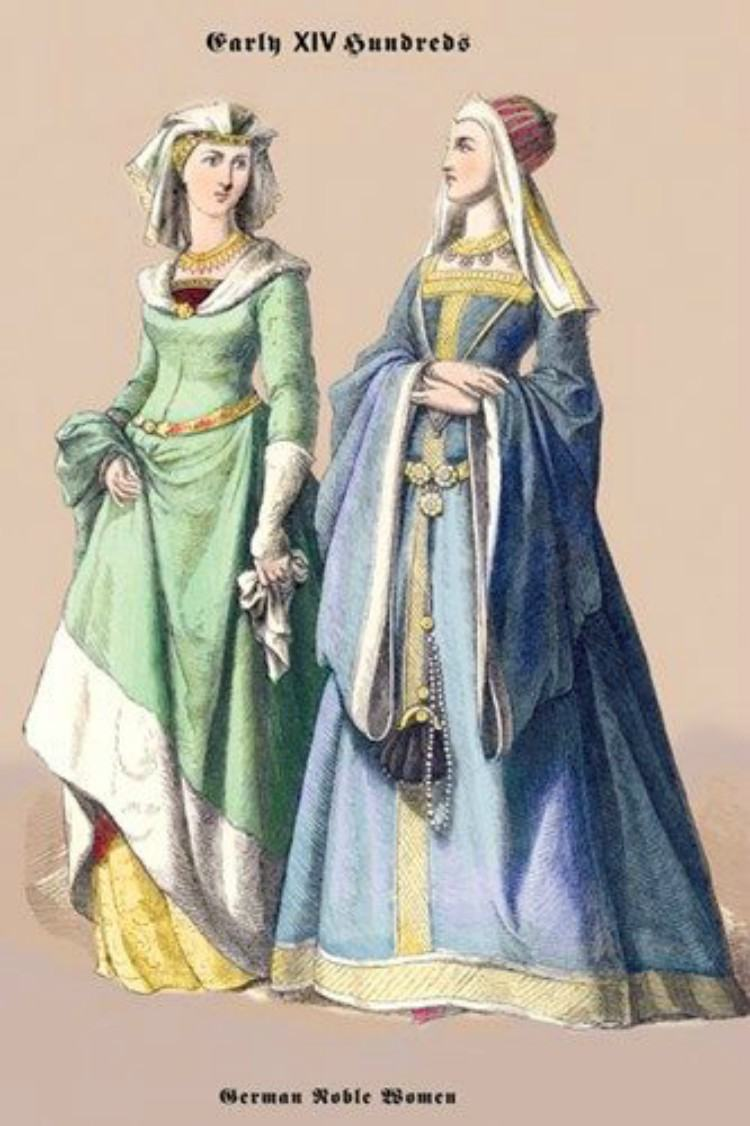 Painting of a German noblewoman and her maid.