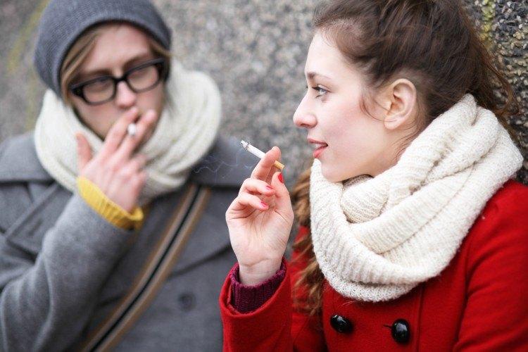 Image of couple smoking
