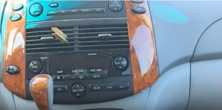 air freshener clothespin in car vent