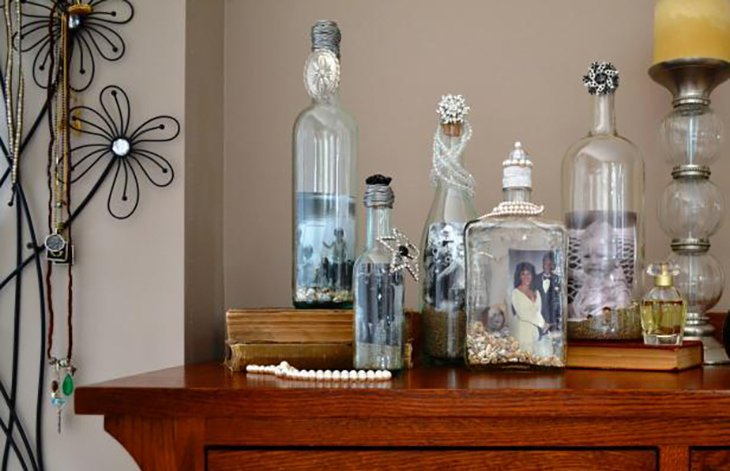 Bottle picture frames.