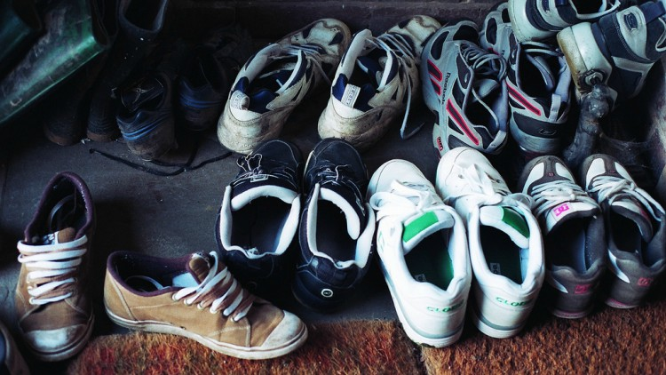 A pile of shoes