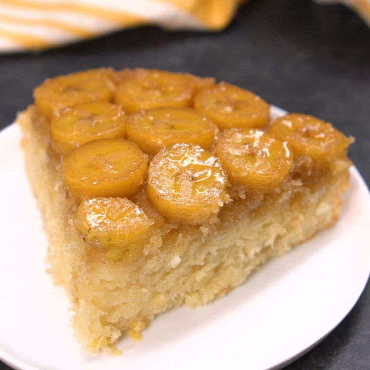 Banana Coconut Upside Down Cake 1