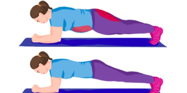 illustration of woman doing plank