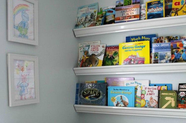 organize gutter shelves