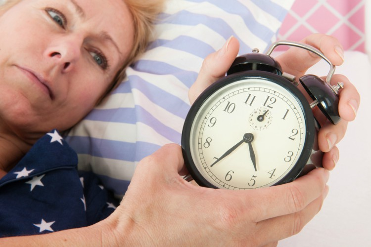 Image of mature woman with insomnia.