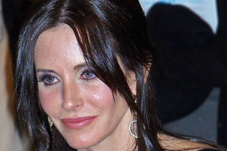 Pic of Courteney Cox face.