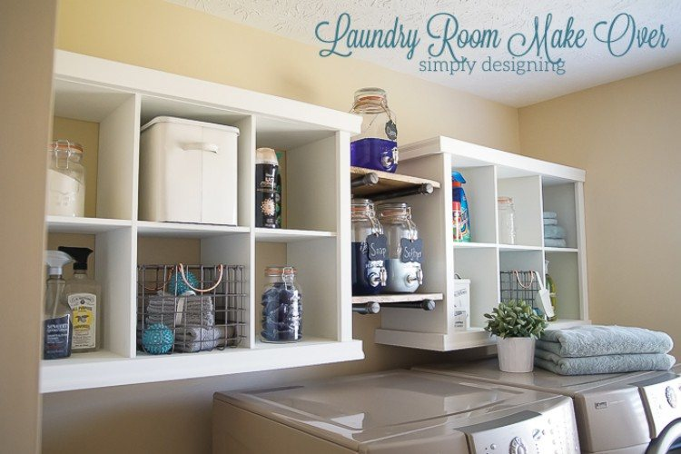Image of laundry room after cub hack makeover.
