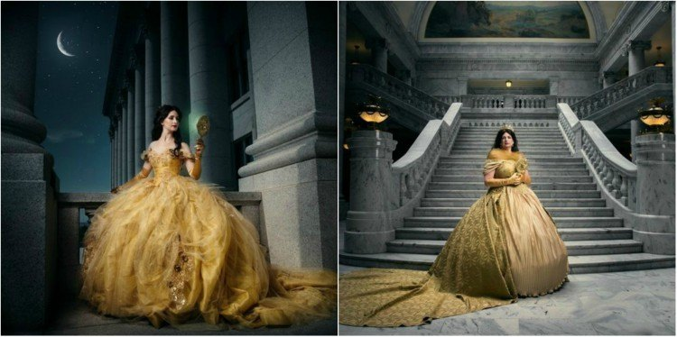 Image of queen and princess Belle.