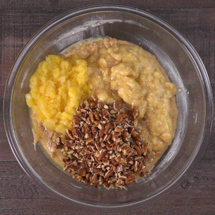 Hummingbird Cake ingredients in bowl
