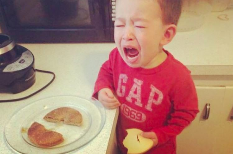 upset kids bagel