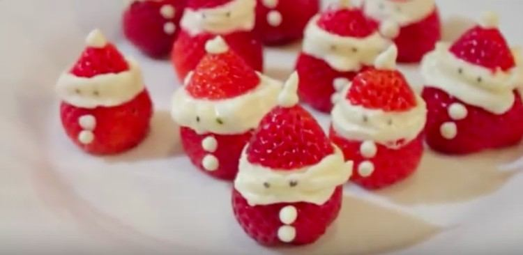desserts strawberry santas