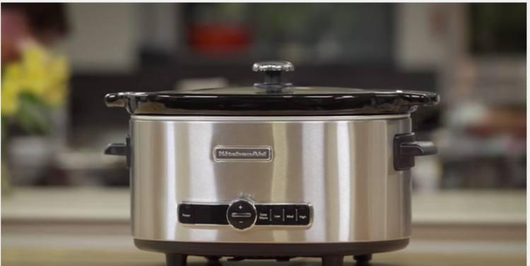 close-up of KitchenAid 6-Quart Slow Cooker