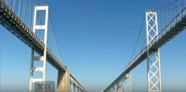 both sides of the Chesepeake Bay Bridge