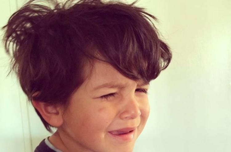 upset kids hair