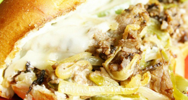 Philly cheesesteak in foil.