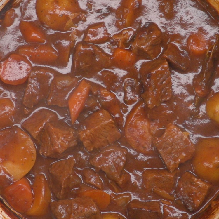 guinness beef stew beef close-up