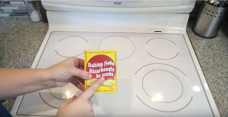 baking soda stove top