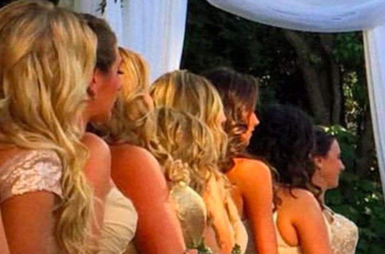 illusion bridesmaids