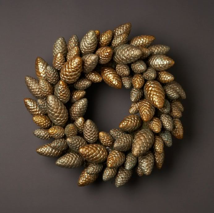 Metallic Cones Wreath