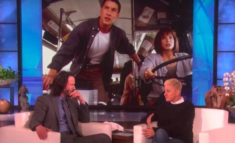 Image of Keanu Reeves on Ellen