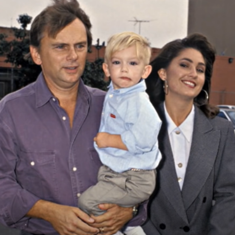 Pat Sajak, son Patrick Michael James Sajak, and Lesly Brown